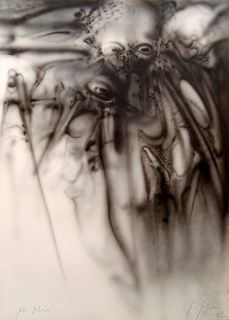 Untitled, 1972, acrylic on paper, 70x50 cm