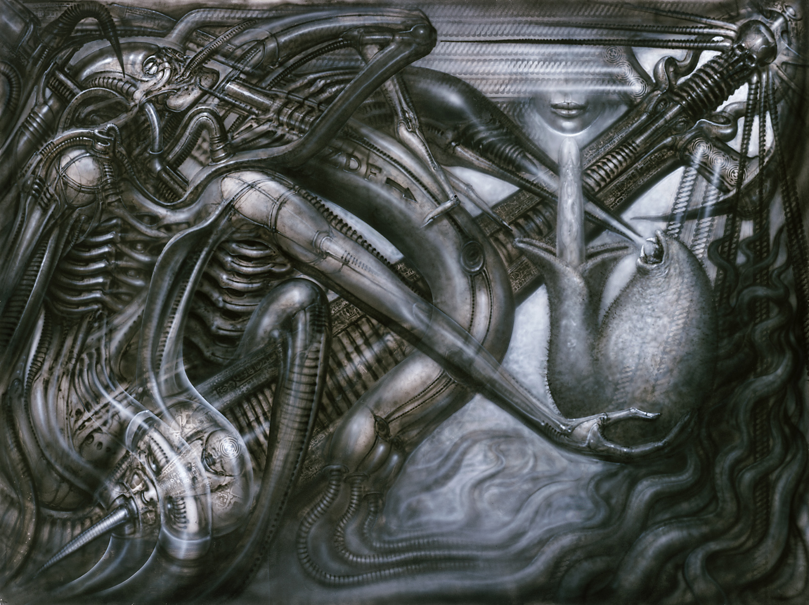 Rasterbild I, 1980, acrilico su carta, 70x100 cm