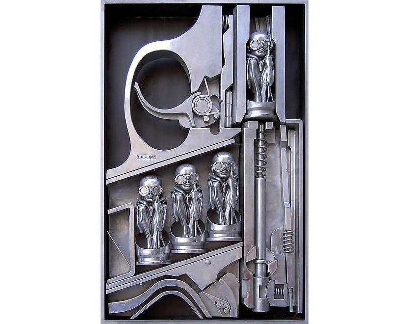 Gebärmaschine, 1999, alluminio, 200x140x25 cm