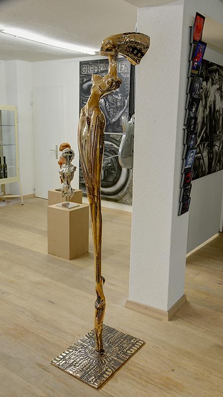 Nubian Queen,  2002, bronzo, 183x32x56 cm