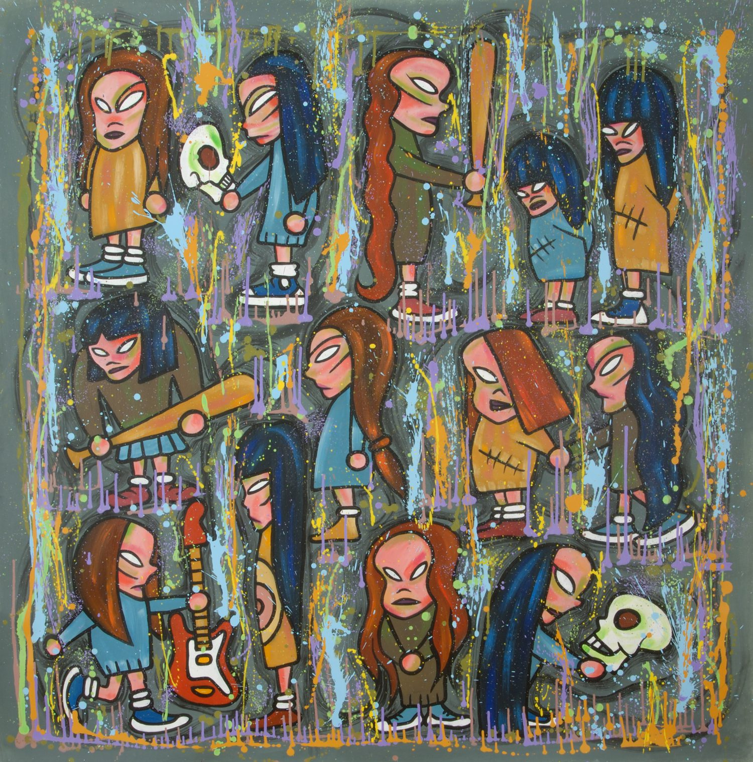 Suzie is a Handbanger, 2005, acrilico su tela, 160x160 cm