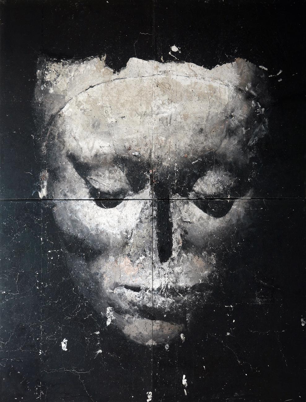 Cavea, tecnica mista su tela, 450x350 cm