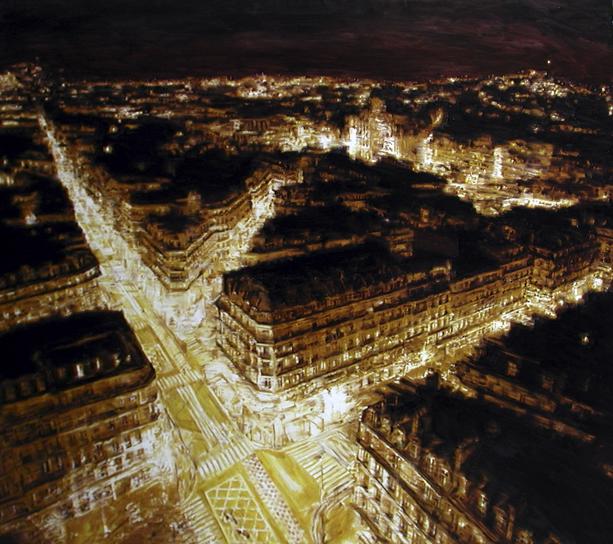 Paris Gold, 2010 , olio su tela, 180x200 cm