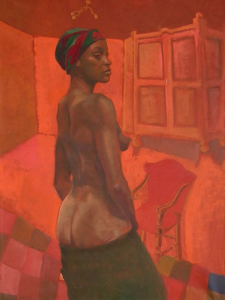 La Stanza Rossa,1978, oil on canvas, 75×100 cm