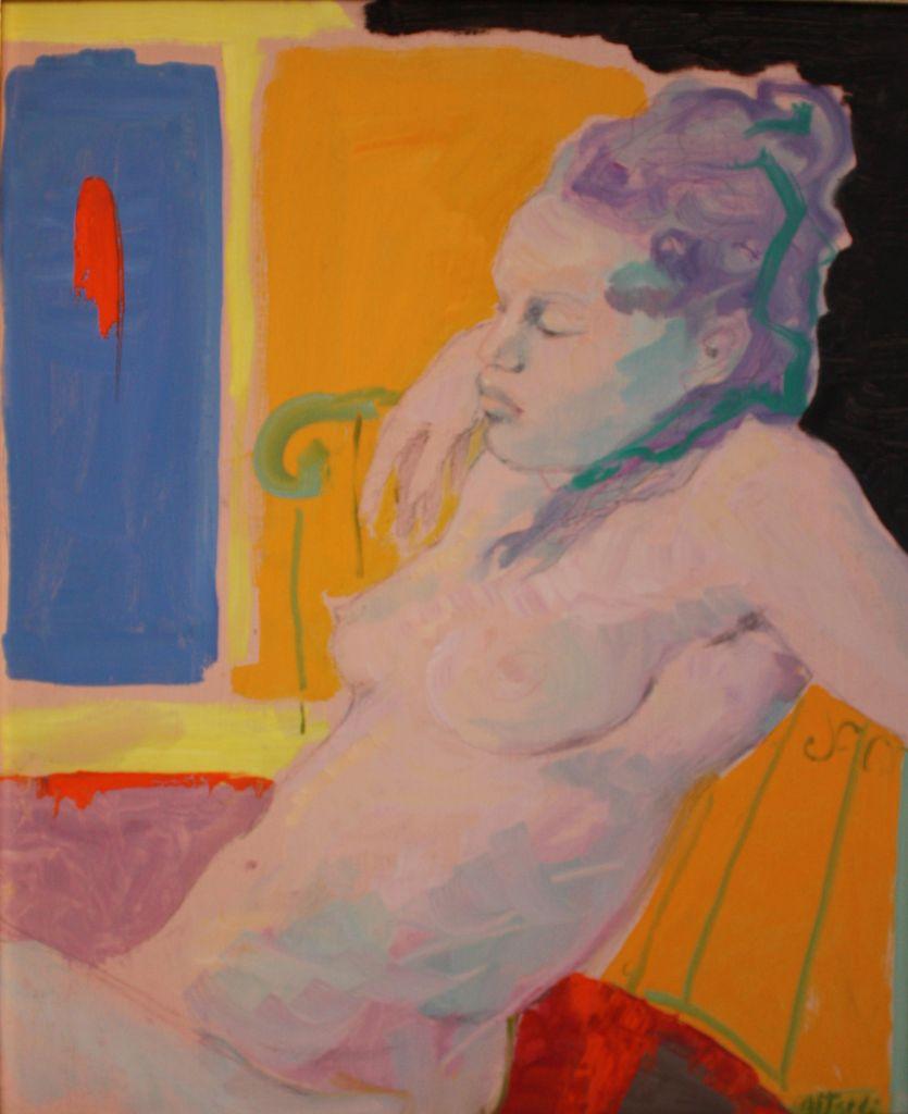 L'Attesa, 2002, olio su tela, 65x50 cm