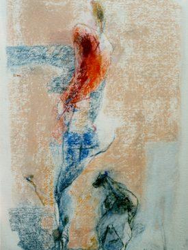ENNIO CALABRIA, Figura con Cane
